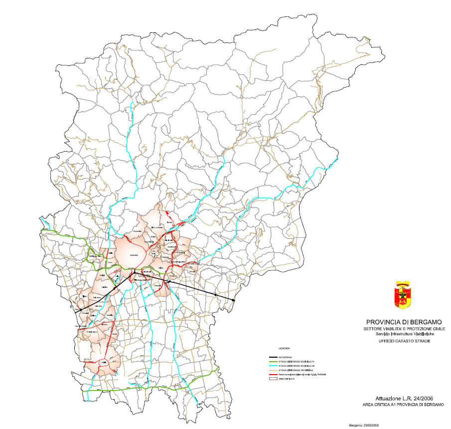 Bergamo LEZ Karte