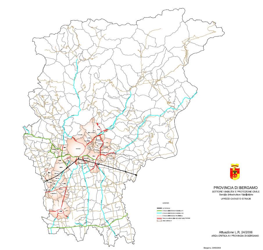 карта Бергамо ЛЕЗ