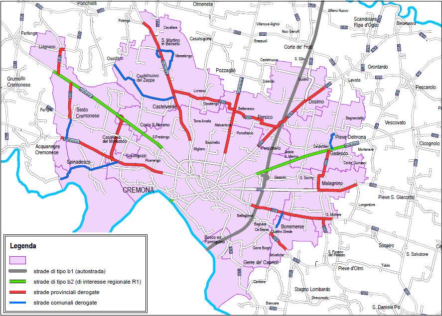 Cremona provintsi LEZ kaart