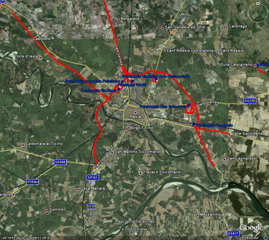 Pavia provincie LEZ kaart