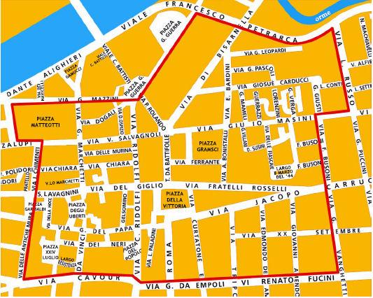 Empoli LEZ žemėlapis