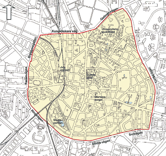 Low Emission Zone Map >> Lund