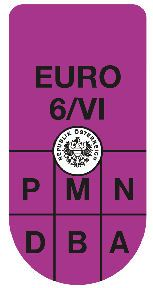 Sticker Avusturya Euro 6