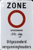 Gent hozzáférési szabályozás útjelző