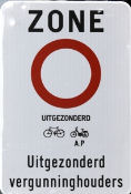 Gent Zugangsregulierung Straßenschild