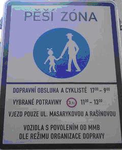 zonă pietonală semn rutier Republica Cehă Brno