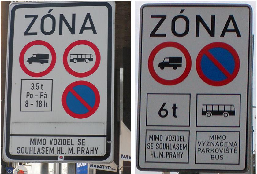 Praha vergunning verkeersbord