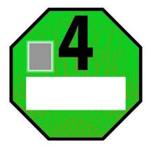 Czech low emission zone green, Euro 4 (petrol Euro 1) sticker