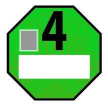 Çek düşük emisyonlu bölge yeşil Euro 4 (benzin Euro 1) çıkartması