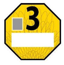 Република зона ниска емисија Euro 2 жолта налепница