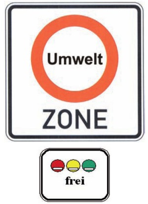 Regensburg Low Emission Zone Road Sign