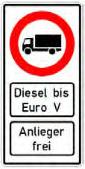 Diesel Ban Road Sign грузовик, Германия