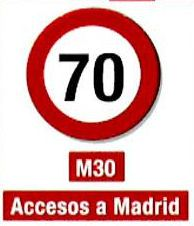 Spain Madrid odd and even road sign