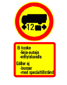Finland Helsinki access regulation road sign