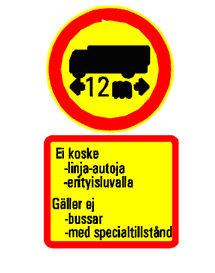 Finland Helsinki adgang regulering vejskilt