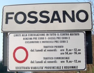 Fossano LEZ sign