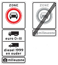 Dutch light duty vehicle low emission zone
