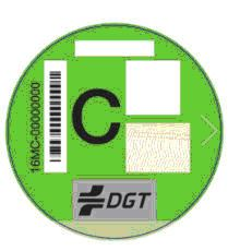 Spanish green sticker C