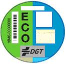Spanish sticker ECO blue and green
